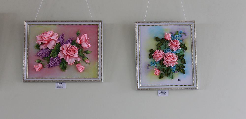 Выставка по вышивке лентами