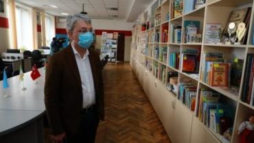 Міністр культури та інформаційної політики України Олександр Ткаченко відвідав бібліотеку